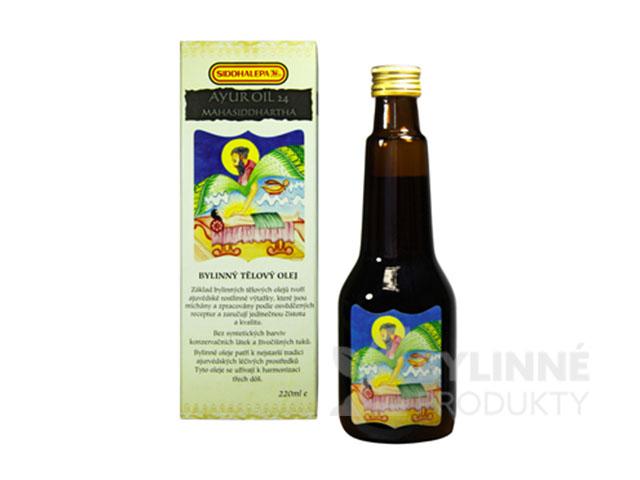 Ayur Oil 24 Mahasiddharta – masážny olej pre tvár a hrudník