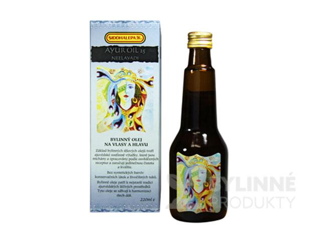 Ayur Oil 25 Neelayadi – masážny olej na hlavu a vlasy