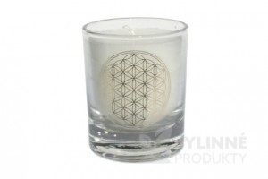 Čakrová sviečka - biela mini