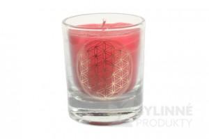 Čakrová sviečka - červená mini