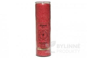 Čakrová sviečka - červená veľká