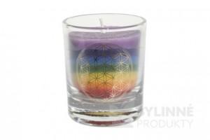 Čakrová sviečka – dúhová mini