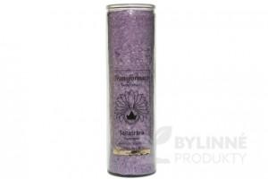 Čakrová sviečka – fialová veľká