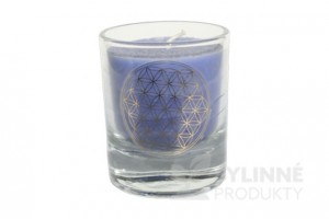 Čakrová sviečka – indigová mini