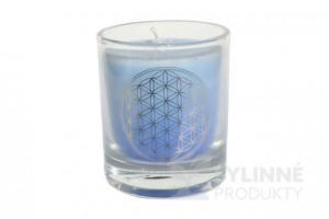 Čakrová sviečka – modrá mini