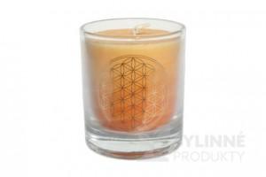 Čakrová sviečka – oranžová mini