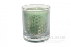 Čakrová sviečka – zelená mini
