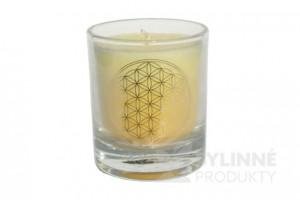 Čakrová sviečka – žltá mini